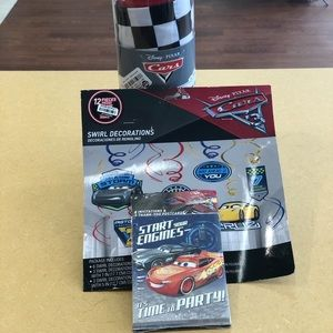 NWT cars themed party set